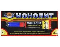 """Клей-супер """"АВИОРА-МОНОЛИТ"""" 3 гр."""