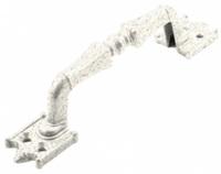 Ручка скоба РС-100-2 антик белое золото АБЗ фигурн.