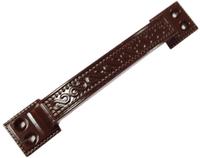 Ручка скоба РС-100-1 коричневый глянец КГ плоская узор.