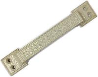 Ручка скоба РС-100-1 антик белое золото АБЗ плоская узор.