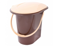 Ведро-туалет (коричневый) 18 л.
