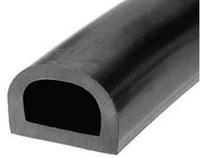 Уплотнитель резиновый черный D 21*15 50 м.