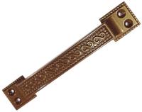 Ручка скоба РС-100-1 металлик медь ММ плоская узор.