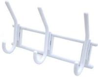 3-х крючковая вешалка снежно-белая (пласт)