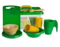 Набор посуды для пикника №7 «Все за стол» (6 персон, 44 пр.)АП 182