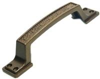 Ручка скоба РС-100-1 металлик бронза МБ плоская узор.