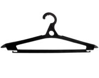 Плечики для верхней одежды черные