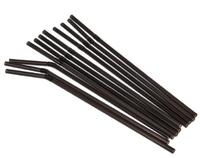105-113 Трубочки для напитков гофр черные GRIFON,100 шт. в п/эт.уп.,21 см