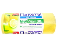 101-020/1 Пакеты д/мусора GRIFON Bio МИКС (9 мкм), 30 л. ПНД, 20 шт в рулоне