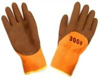 Перчатки теплые оранж с КОРИЧ.покрытием/960шт