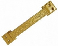 Ручка скоба РС-100-1 матовое золото МЗ плоская узор.