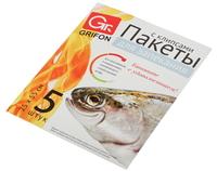 101-210/1 Пакеты для запекания рыбы GRIFON 25 х 55 см, 5 шт. в упак., клипсы