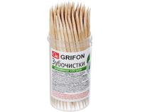 400-002 Зубочистки из дерева GRIFON, 100 штук в пластиковой баночке