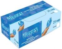 "Перчатки латекс М ""GLOVES"" 25 пар в уп."