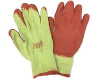 Перчатки желтые с красным обливом/12/600шт.