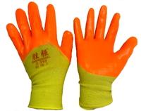 Перчатки X-PERT 14-01 х/б одинар. облив желто-оранж