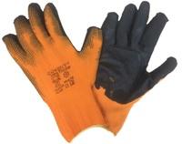 Перчатки теплые оранж с ЧЕРН.покрытием/500шт.