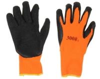 Перчатки X-PERT 18-06 х/б одинар. облив черно-оранж.