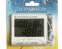 "Термометр + гигрометр быт. ""Электронный"" ТЭ-4 с уличным датчиком"