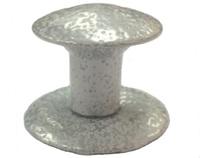 Ручка-кнопка меб. (метал) Антик белая