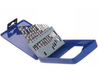 Набор сверл по металлу №1554 d-1,5-6,5 мм, с шагом 0,5-1 мм, 13 шт. в метал.кейсе синий