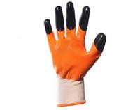 Перчатки облитые с черным пальчиком