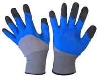 Перчатки X-PERT 12-13 одинар. черн.облив, серо-синие