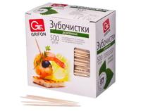 400-512 Зубочистки из дерева GRIFON в индивидуальной п/э упаковке, 500 шт.