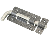 Задвижка дверная ЗД-03 пол.серебро